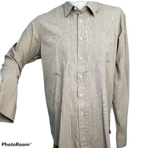 Private Member Striped Embroidered Shirt Large